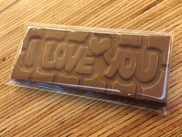 Tablette I LOVE YOU - Lait caramel noisettes