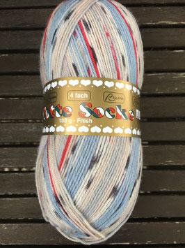 Flotte Socke Fresh 4-fach von Rellana (blau/weiß)