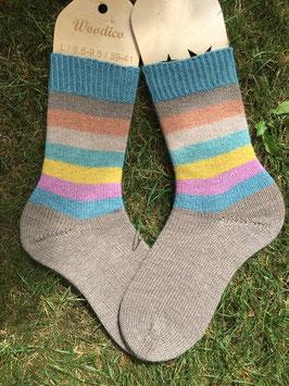 Socken, handgestrickt; Größe 40/41