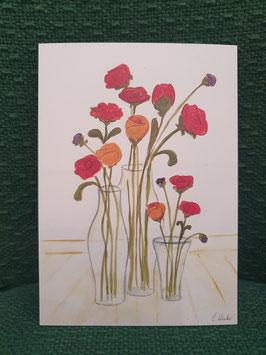 "Postkarte Menker ""Blumen im Glas"""