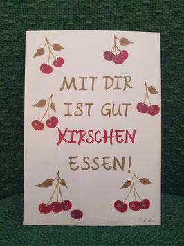 "Postkarte Menker ""Gut Kirschen essen"""
