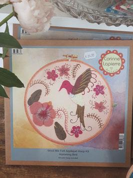 Hummingbird Felt Embroidery Hoop Kit