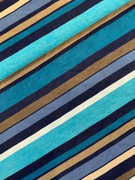 Multicolor Streifen (als Combi mit uni türkis)