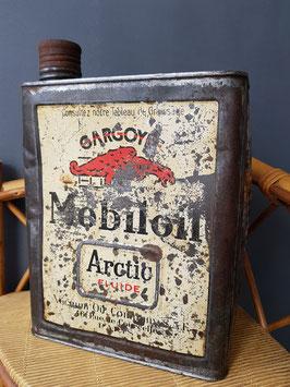 Ancien bidon d'huile MOBILOIL