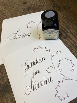 Gutschein für einen Kalligraphie-Kurs oder Privatstunden