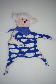 SCHMUSE-SCHÖFLI wollweiss/blau