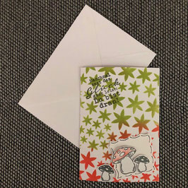 """Geburtstagskarte """"Pilze"""""""
