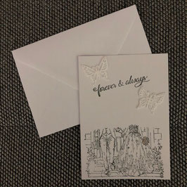 """Hochzeitskarte """"Brautpaar"""""""