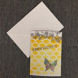 "Geburtstagskarte ""Schmetterling"""