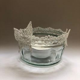 Teelichtglas Schmetterling klein