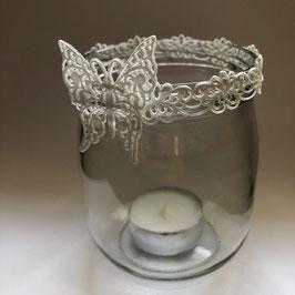 Teelichtglas Schmetterling gross