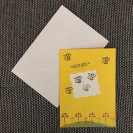 """Karte """"Bee happy"""""""