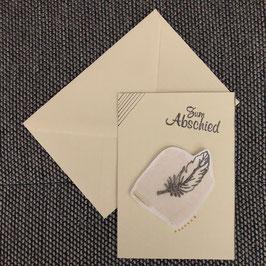 "Abschiedskarte ""Feder"""