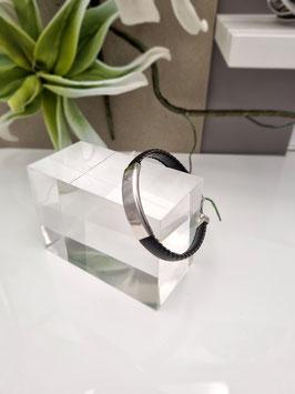 Armband Kunstleder mit 925 Silberelementen und Schließe
