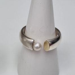 Ringe aus 925 Sterlingsilber mit Süßwasserzuchtperle