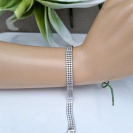 Armband 925 Silber mit Zirkoniabesatz