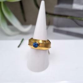 Kado Ring Edelstall gold mit Stein - bestehend aus 3 Teilen