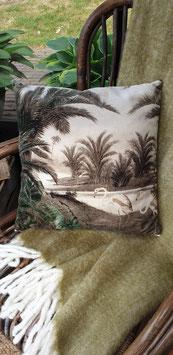 velvet kussen palmen