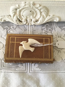 nr: 4047 oude broche vogel (been)
