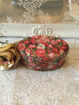 nr: 117 ovaal klein blikje rozen Engels