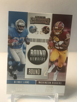 Kerryon Johnson/ Derrius Guice (Lions/ Redskins) 2018 Contenders Round Numbers #RNA-JG