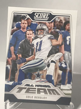 Cole Beasley (Cowboys) 2018 Score All Hands Team #1