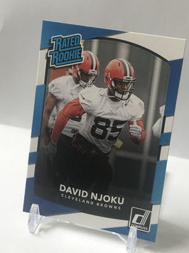 David Njoku (Browns) 2017 Panini Donruss Rated Rookie #314