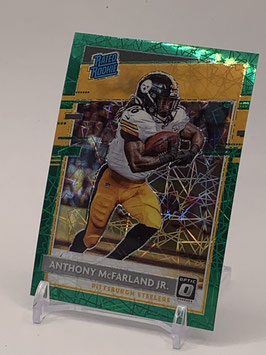 Anthony McFarland (Steelers) 2020 Donruss Optic Rated Rookie Green Velocity Prizm #191