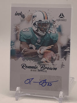 Ronnie Brown (Dolphins) 2021 Luminance Ink #INK-RBR