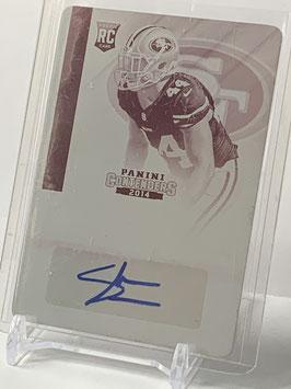 Shayne Skov (49ers) 2014 Contenders Rookie Ticket Printing Plate Autograph Magenta #174