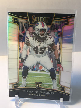 Tremaine Edmunds (Bills) 2018 Select Silver Prizm #26