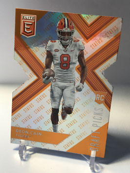 Deon Cain (Clemson/ Colts) 2018 Panini Elite Draft Picks Status Orange Die-Cut Variation #11