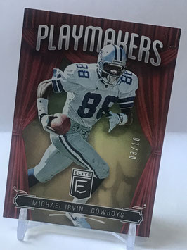 Michael Irvin (Cowboys) 2019 Elite Playmakers Gold #PM-7