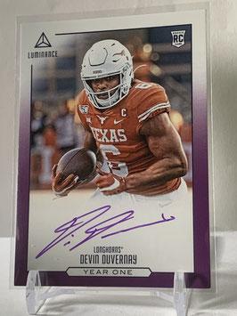 Devin Duvernay (Texas/ Ravens) 2020 Luminance  Year One Autograph Purple #YO-DD