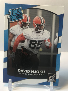 David Njoku (Browns) 2017 Donruss Rated Rookie #314