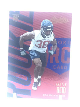 Justin Reid (Texans) 2018 Panini Absolute Spectrum Blue #140