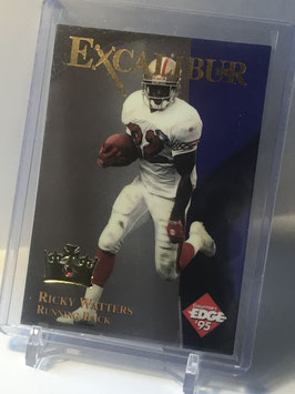 Ricky Watters (49ers) 1995 Collector's Edge Excalibur 22k Ruby Redemption Stone #24