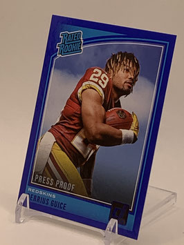 Derrius Guice (Redskins) 2018 Donruss Rated Rookie Blue #307