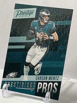 Carson Wentz (Eagles) 2019 Prestige Prestigious Pros #PP-CW