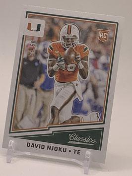 David Njoku (Miami/ Browns) 2017 Classics Blank Back #397