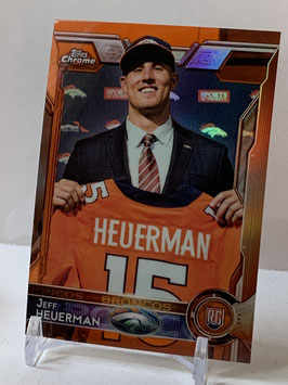 Jeff Heuerman (Broncos) 2015 Topps Chrome Orange Refractor #185