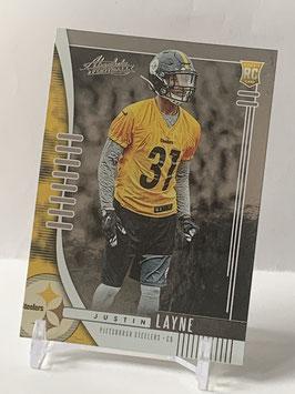 Justin Layne (Steelers) 2019 Absolute #184