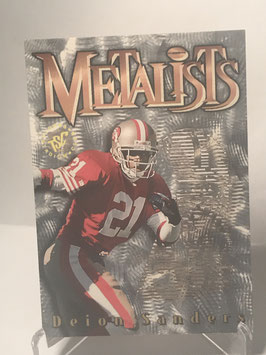Deion Sanders (49ers) 1995 Topps Stadium Club Metalists #M6