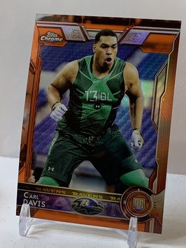 Carl Davis (Ravens) 2015 Topps Chrome Orange Refractor #195