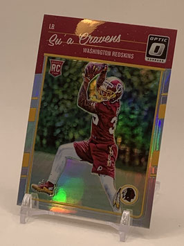 Su'a Cravens (Redskins) 2016 Donruss Optic Holo #142