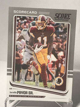 Terrelle Pryor Sr. (Redskins) 2018 Score Scorecard #324