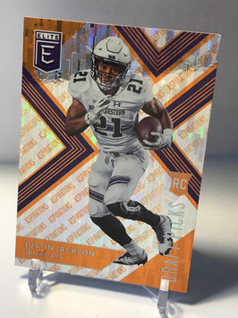 Justin Jackson (Northwestern/ Chargers) 2018 Panini Elite Draft Picks Aspirations Orange Variation #140