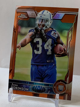 Josh Robinson (Colts) 2015 Topps Chrome Orange Refractor #198