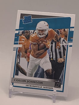 Collin Johnson (Texas/ Jaguars) 2020 DonrussRated Rookie #347