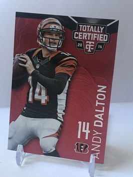 Andy Dalton (Bengals) 2014 Panini Totally Certified Platinum Red #20